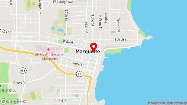 Google Map of 137 W. Washington St., Marquette, MI 49855