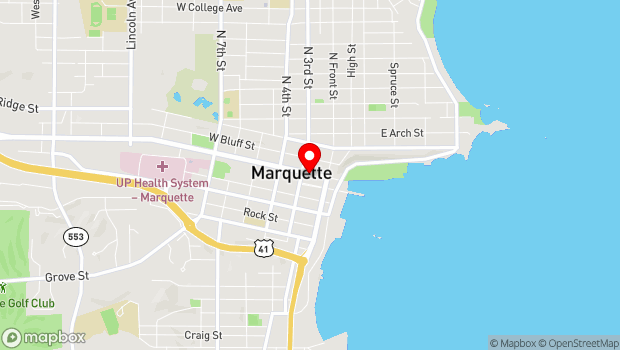 Google Map of 139 W. Washington St., Marquette, MI 49855
