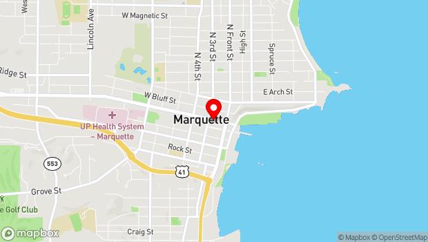 Google Map of 139 W. Washington St., Marquette, MI 49855