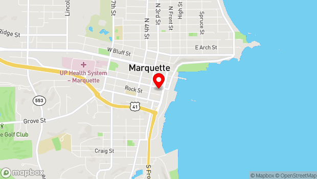 Google Map of 123 W Baraga St, Marquette, MI 49855