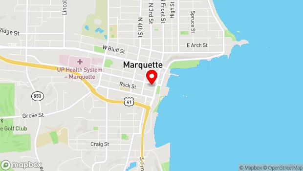 Google Map of 123 W Baraga St, Marquette, MI 49855