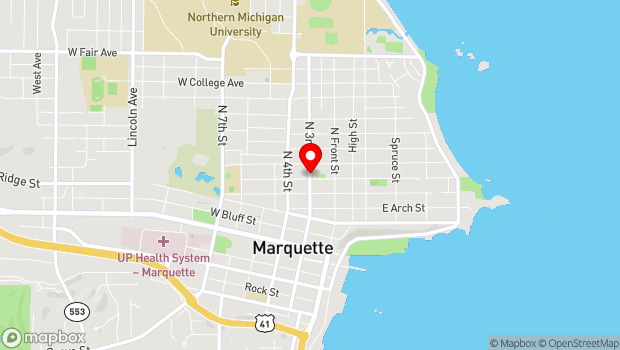 Google Map of 610 N. Third St., Marquette, MI 49855