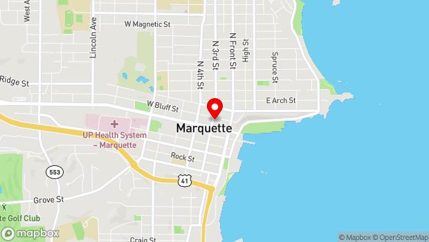Google Map of 118 N. Third Street, Marquette, MI 49855