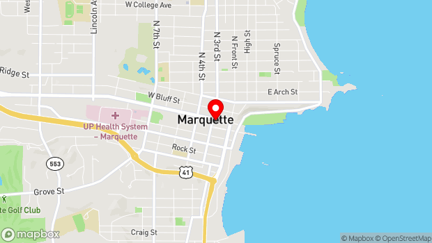 Google Map of 147 W. Washington Street, Marquette, MI 49855