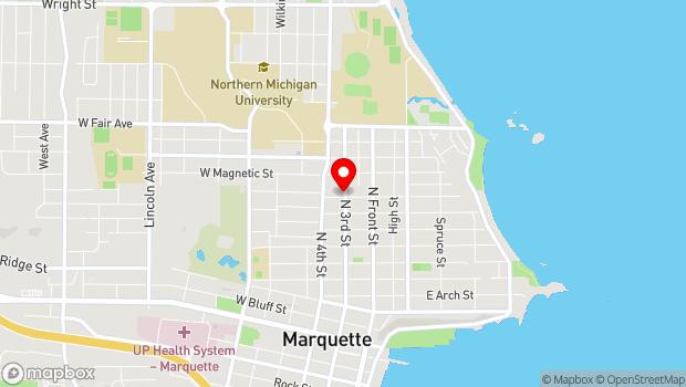 Google Map of 1007 N Third Street, Marquette, MI 49855