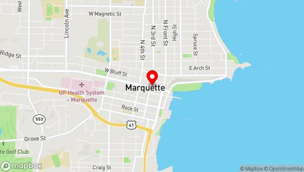 Google Map of 154 W. Washington Street, Marquette, MI 49855