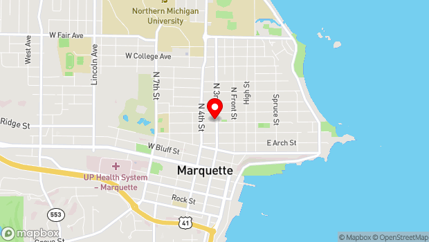 Google Map of 601 N. 3rd St., Marquette, MI 49855
