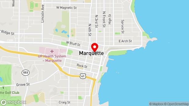 Google Map of 111 S. Third St., Marquette, MI 49855