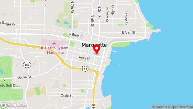 Google Map of 145 W. Spring St., Marquette, MI 49855