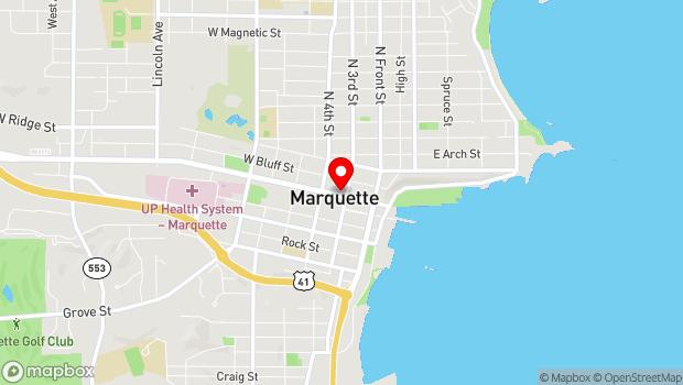 Google Map of 202 W Washington Street, Marquette, MI 49855