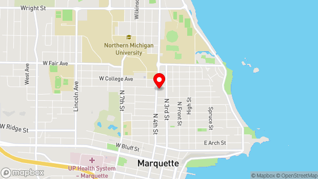 Google Map of 305 W. Magnetic, Marquette, MI 49855