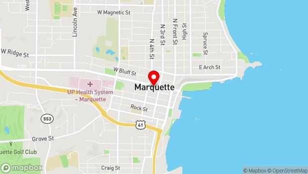 Google Map of 223 W. Washington St, Marquette, MI 49855