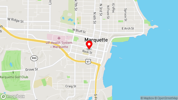 Google Map of 311 W Baraga Avenue, Marquette, MI 49855