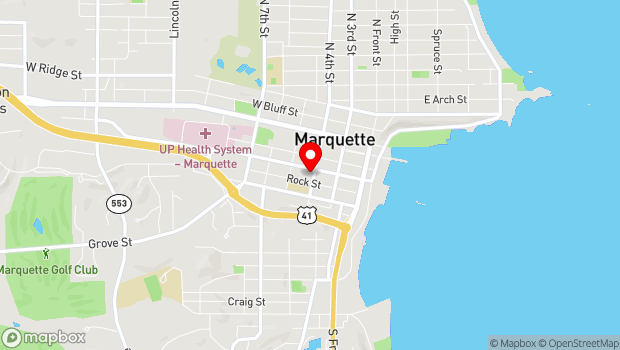 Google Map of 311 West Baraga, Marquette, MI 49855