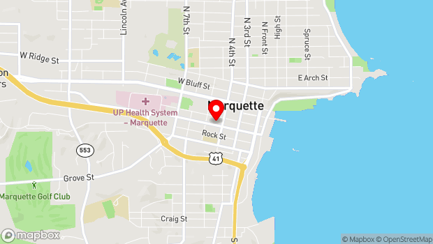 Google Map of 300 W. Baraga Avenue, Marquette, MI 49855