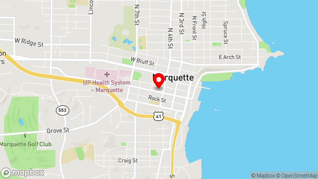 Google Map of 300 W. Baraga Ave., Marquette, MI 49855