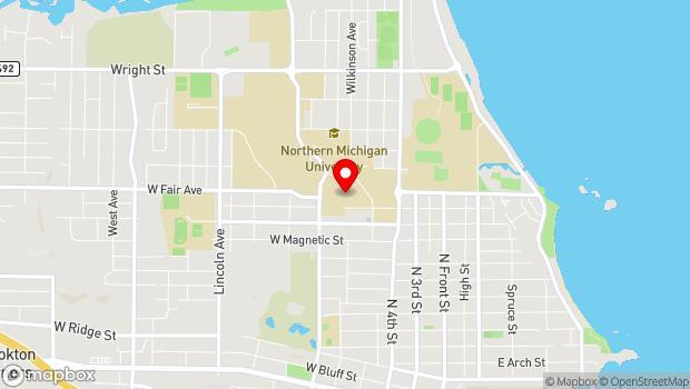 Google Map of 1401 Presque Isle Ave., Marquette, MI 49855
