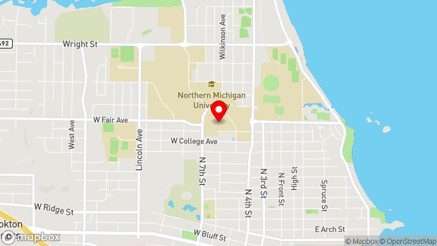 Google Map of 1401 Presque Isle Ave, Marquette, MI 49855