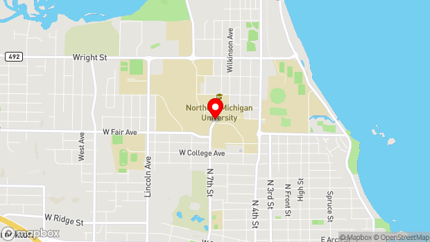 Google Map of Corner of 7th Ave. and Tracy Ave., Marquette, MI 49855