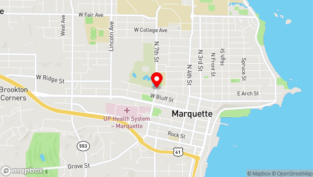 Google Map of 301 N 7th St., Marquette, MI 49855