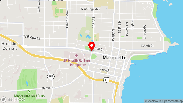Google Map of 600 Block of West Washington St., Marquette, MI 49855