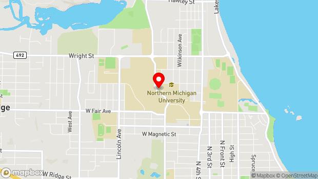 Google Map of 1401 Presque Isle Avenue, Marquette, MI 49855