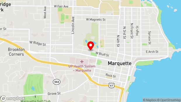 Google Map of 700 west Bluff street, Marquette, MI 49855
