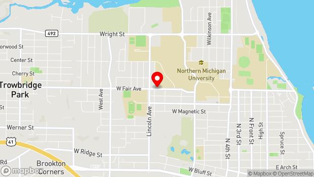 Google Map of 927 West Fair Avenue, Marquette, MI 49855