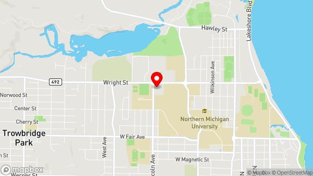 Google Map of 1820 Lincoln Avenue, Marquette, MI 49855