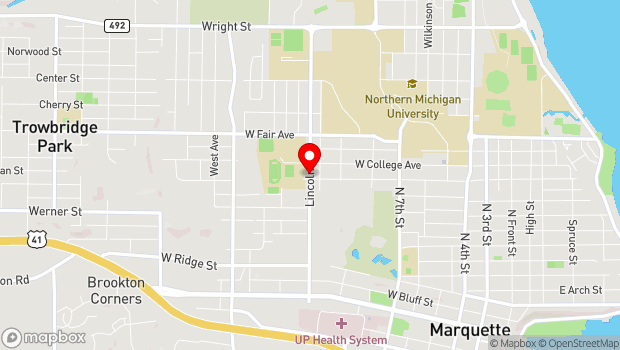 Google Map of 1113 Lincoln Ave., Marquette, MI 49855