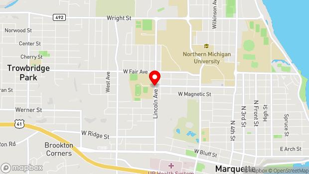 Google Map of 1113 Lincoln Ave., Marquette, MI 49855