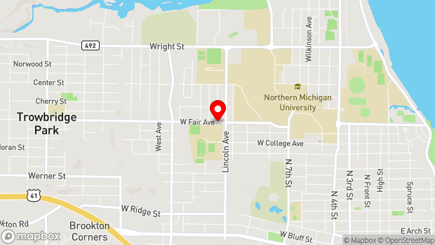 Google Map of 1203 W Fair Ave, Marquette, MI 49855