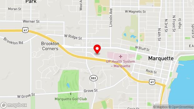 Google Map of 914 W. Baraga Ave., Marquette, MI 49855