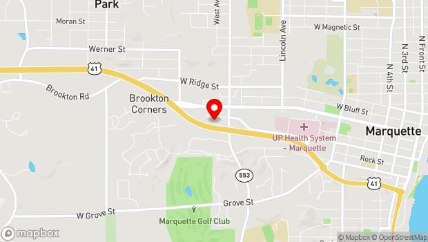 Google Map of 1055 W. Baraga Avenue, Marquette, MI 49855