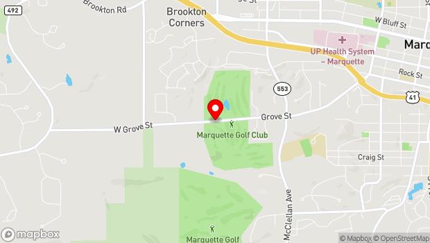 Google Map of 1075 Grove Street, Marquette, MI 49855