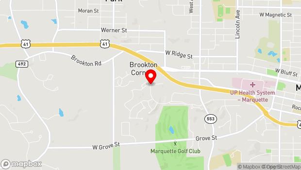 Google Map of 1600 Mill Creek, Marquette, MI 49855