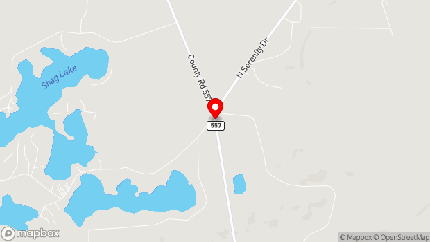 Google Map of 245 S County Road 557, Gwinn, MI 49841