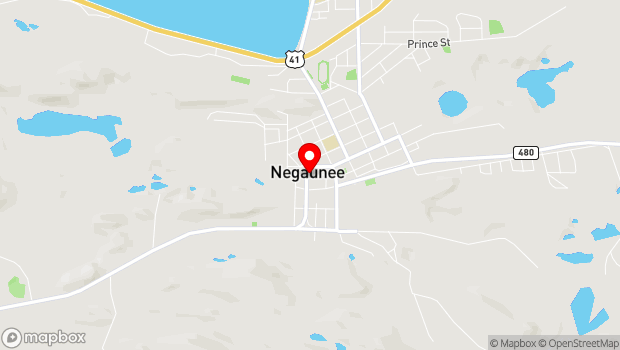 Google Map of Iron Street, Negaunee, MI 49866