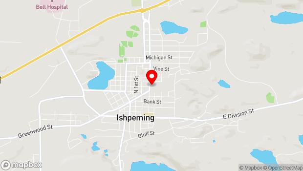 Google Map of 400 N. Third Street, Ishpeming, MI 49849