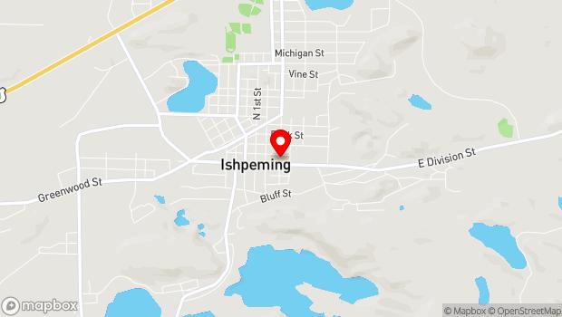 Google Map of 319 East Division Street, Ishpeming, MI 49849