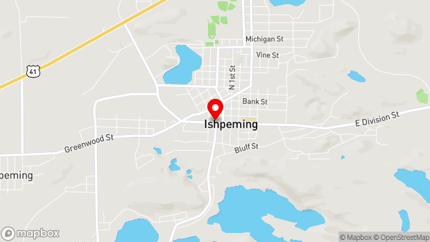 Google Map of 206 West Division Street, Ishpeming, MI 49849