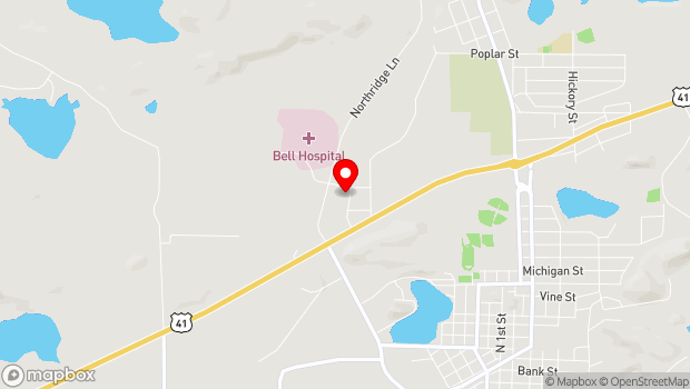 Google Map of 1011 N Road, Ishpeming, MI