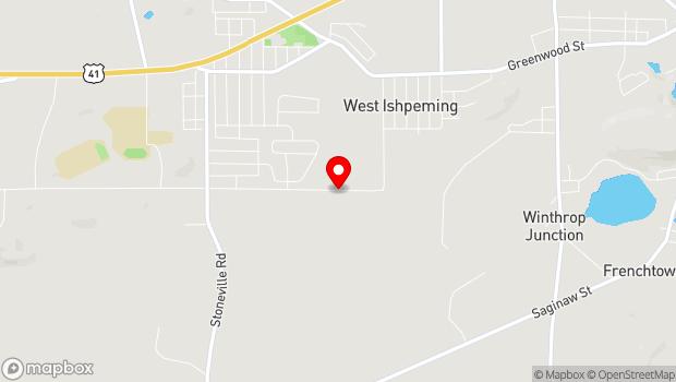 Google Map of 1492 Southwood Drive, Ishpeming, MI 49849