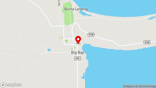 Google Map of 400 Bensinger Road, Big Bay, MI 49808