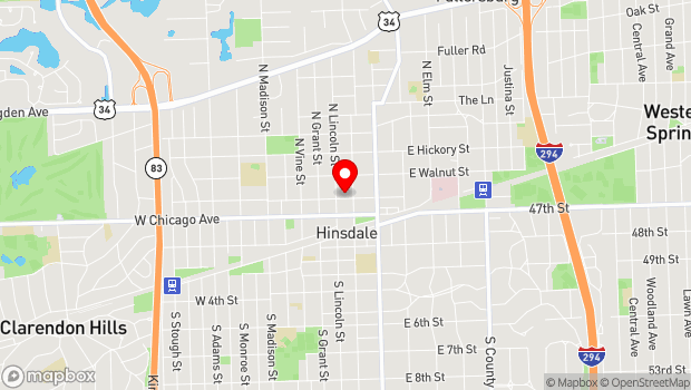 Google Map of 11 West Maple, Hinsdale, IL 60521