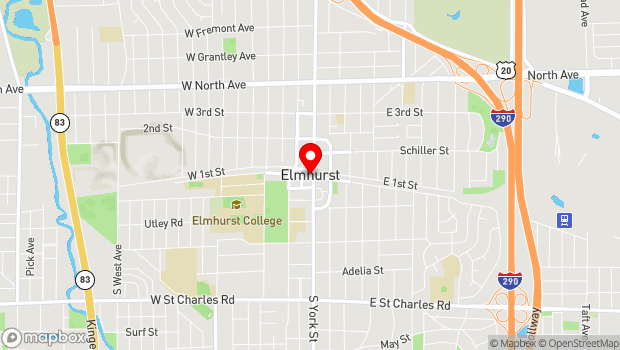 Google Map of 190 S Prospect Ave, Elmhurst, IL 60126
