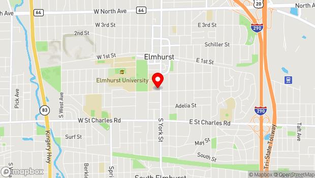 Google Map of 232 S. York St., Elmhurst, IL 60126