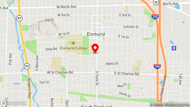 Google Map of 232 S. York, Elmhurst, IL 60126