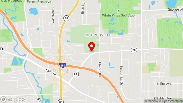 Google Map of 16W680 Grand Avenue, Bensenville, IL 60106