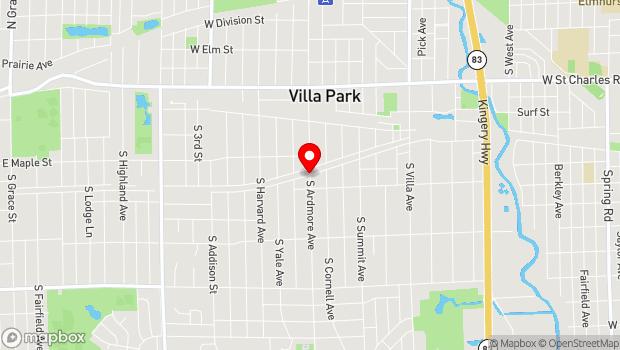 Google Map of Ardmore Ave. & Park Blvd., Villa Park, IL 60181
